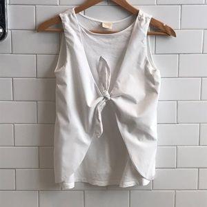 Zara white tank blouse
